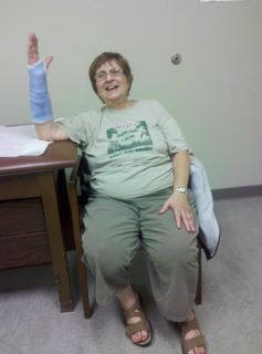 Grandma Betty broke her arm
